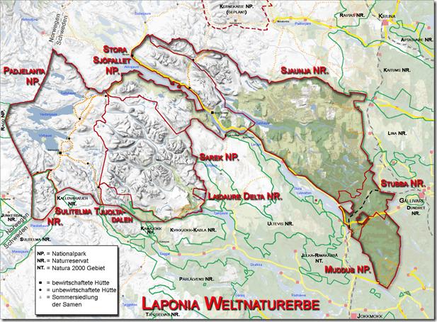 Laponia-Karte