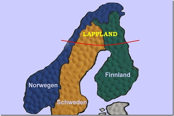 Lappland-Karte-